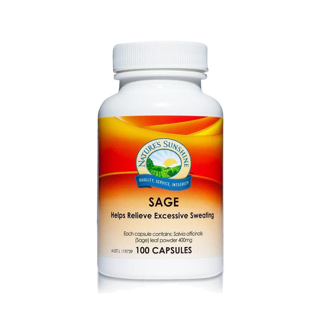 Sage 100c - Relieve Excessive Sweating, Nature's Sunshine, Sage