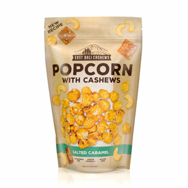 Salted Caramel Popcorn with Cashews 90g, East Bali Cashews, Nuts