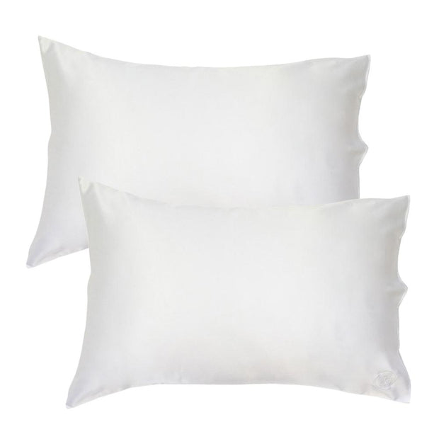 Silk Pillowcase Twin Set - Natural White, The Goodnight Sleep Co, Pillowcase