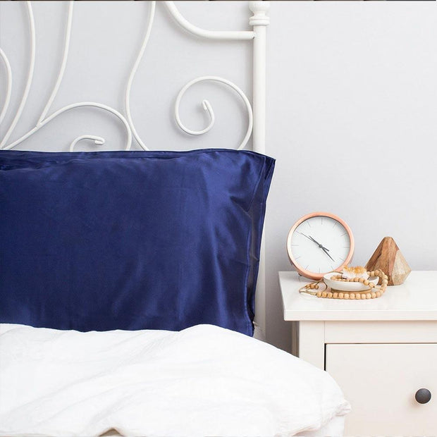 Silk Pillowcase Twin Set - Navy, The Goodnight Sleep Co, Pillowcase