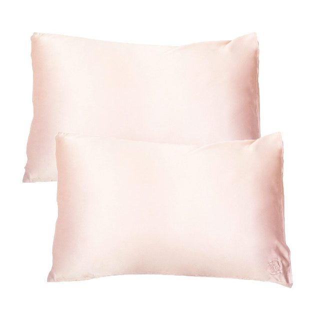 Silk Pillowcase Twin Set - Pink, The Goodnight Sleep Co, Pillowcase