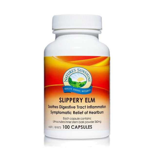 Slippery Elm - Digestive Tract & Heartburn, Nature's Sunshine, Digestive