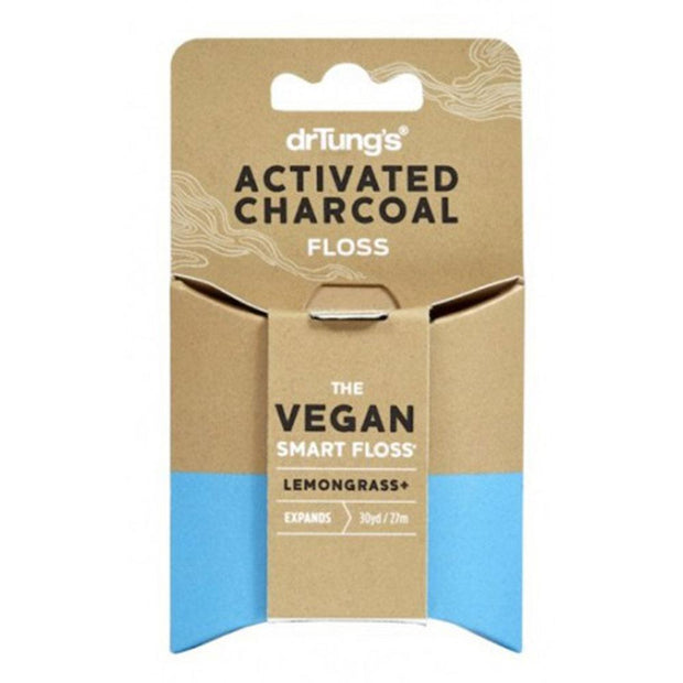 Smart Dental Floss - Vegan Activated Charcoal 27m, Dr Tung's, Dental Floss
