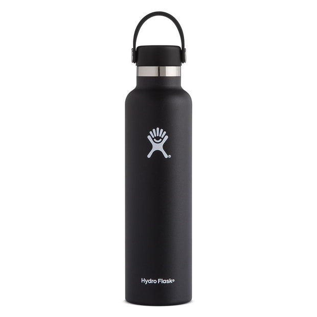 Standard Mouth Flex Cap Double Insulated 709mL - Black, Hydro Flask, Water Bottles