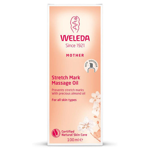 Stretch Mark Massage Oil 100mL, Weleda, Belly Oil