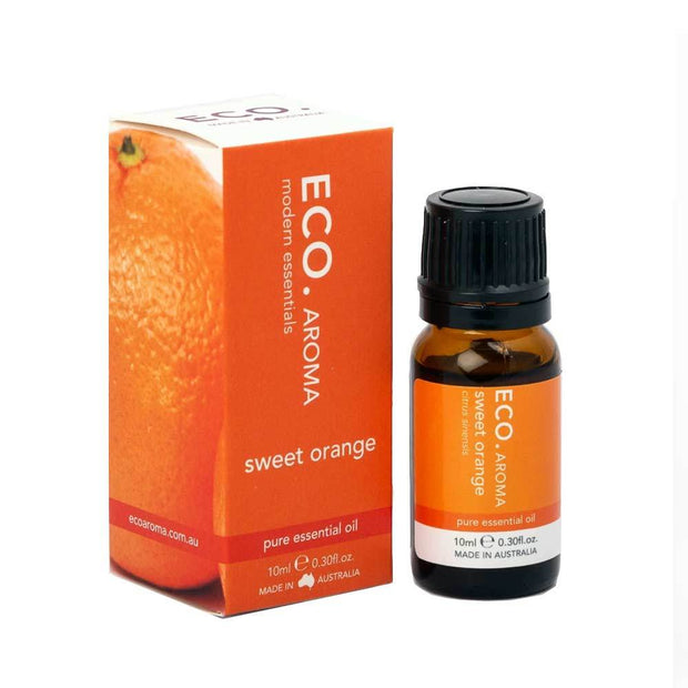 Sweet Orange Pure Essential Oil 10ml, Eco Modern Essentials, Essential Oils