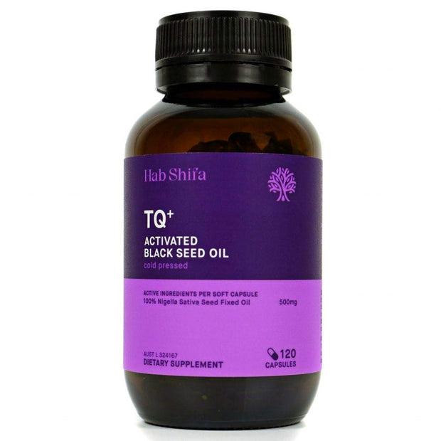TQ+ Activated Black Seed Capsules - 120 liquid cap Black Seed Oil Hab Shifa