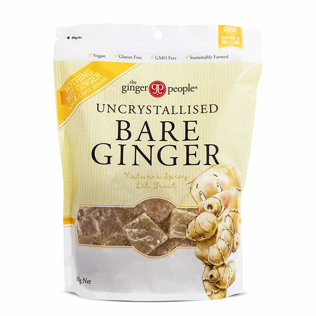 Uncrystallised Bare Ginger 200g, The Ginger People, Candy