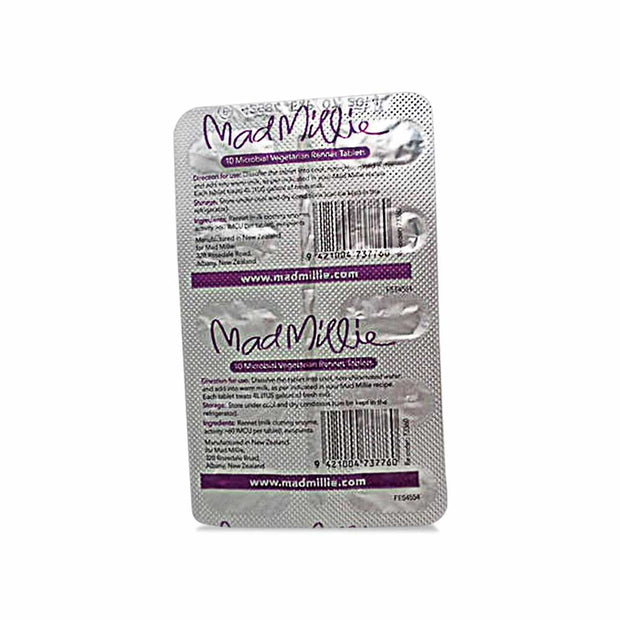 Vegetarian Rennet Tablets (x10), Mad Millie, Culture Starter