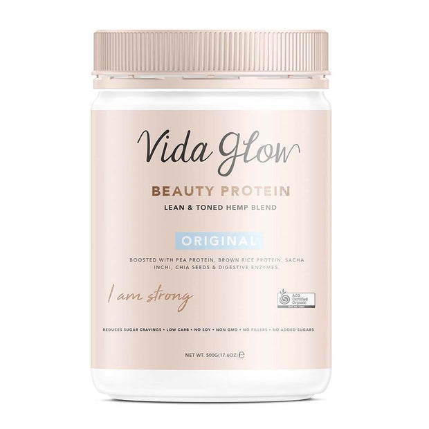 Vida Glow Beauty Vegan Protein | Original 500g, Vida Glow, Collagen