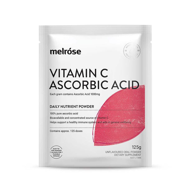 Vitamin C Ascorbic Acid 125g, Melrose, Nutrient Powder