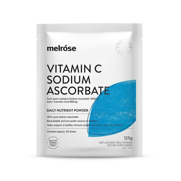 Vitamin C Sodium Ascorbate 125g, Melrose, Nutrient Powder