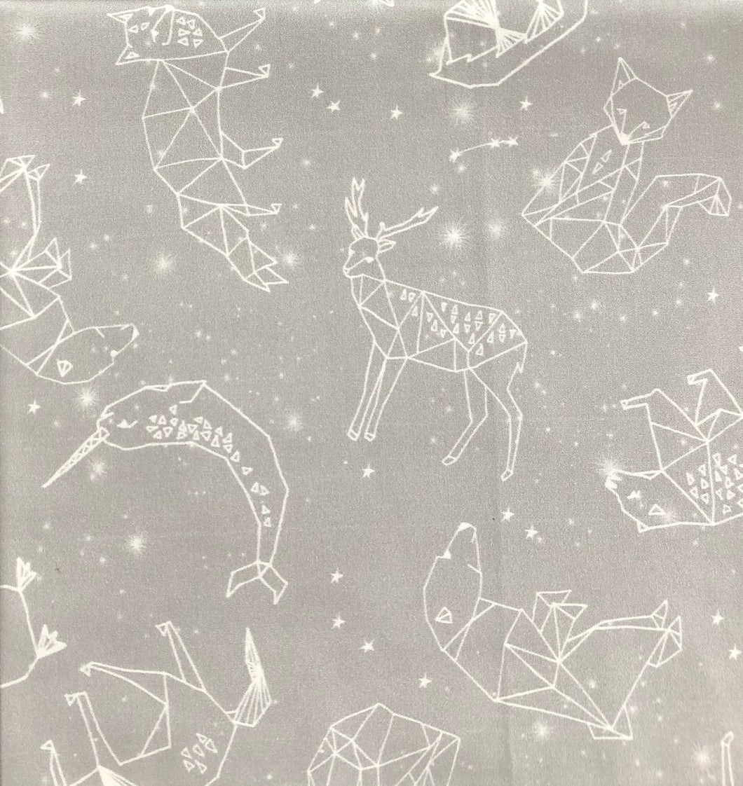 Star crossed animals in grey - Percy and Paige tiny traveller footmuff pram blanket best footmuffs universal footmuff australian made footmuffs warm and practical