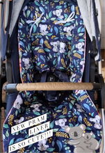 Load image into Gallery viewer, Redsbaby bounce/Metro/Jive Custom made pram liner - Percy and Paige tiny traveller footmuff pram blanket best footmuffs universal footmuff australian made footmuffs warm and practical