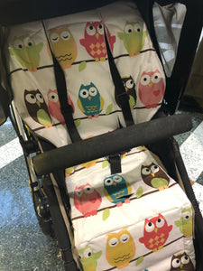 Universal liner- owls - Percy and Paige tiny traveller footmuff pram blanket best footmuffs universal footmuff australian made footmuffs warm and practical