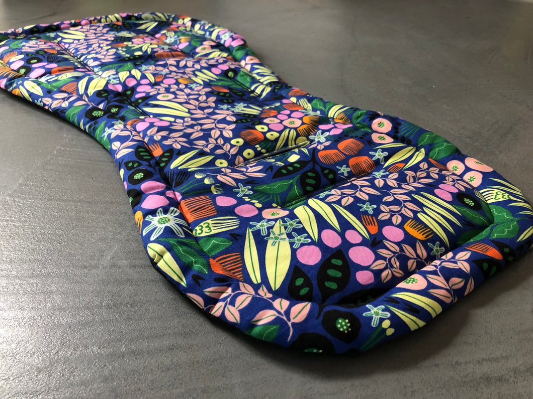Universal liner- Funky flowers - Percy and Paige tiny traveller footmuff pram blanket best footmuffs universal footmuff australian made footmuffs warm and practical