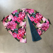 Load image into Gallery viewer, Universal pram curtain- large roses - Percy and Paige tiny traveller footmuff pram blanket best footmuffs universal footmuff australian made footmuffs warm and practical