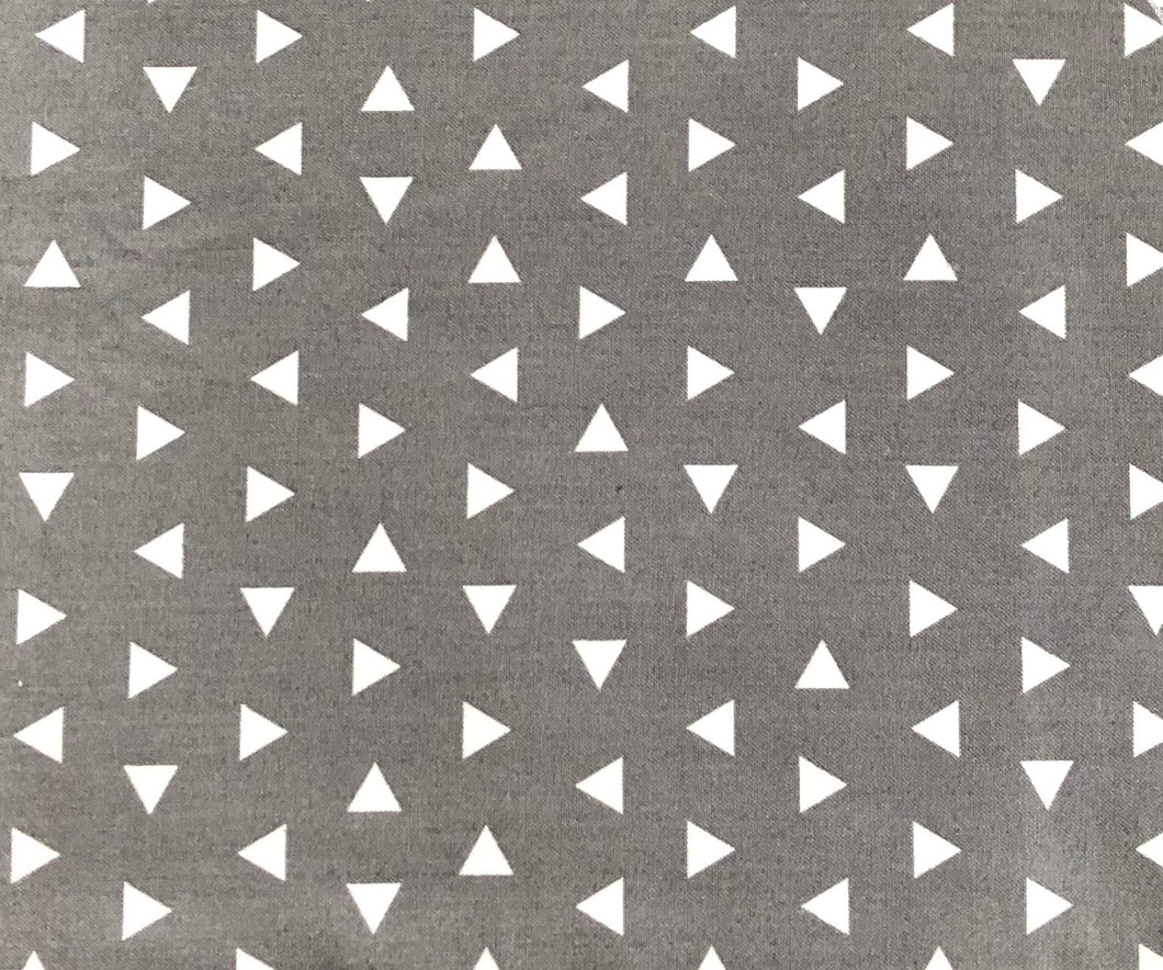 Directional triangles on grey - Percy and Paige tiny traveller footmuff pram blanket best footmuffs universal footmuff australian made footmuffs warm and practical
