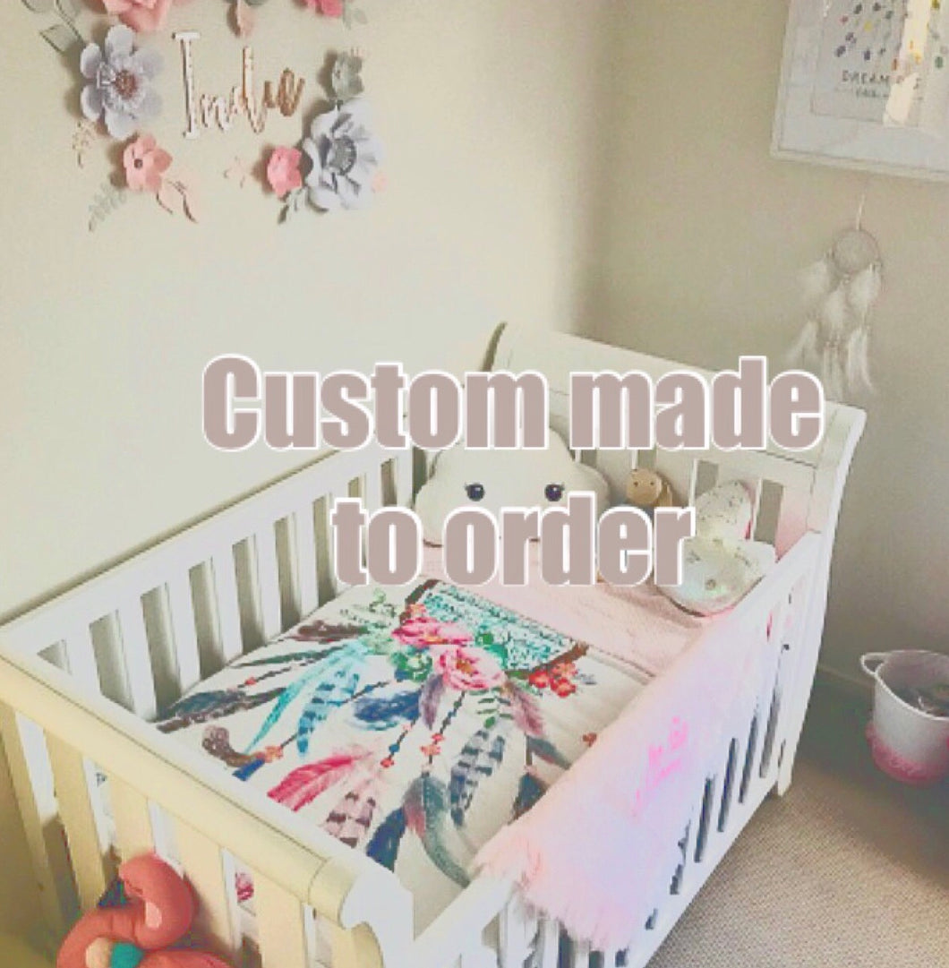 Custom made Cot Quilt - Percy and Paige tiny traveller footmuff pram blanket best footmuffs universal footmuff australian made footmuffs warm and practical
