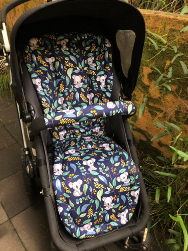 Custom liner made for your model of pram- cuddly koala