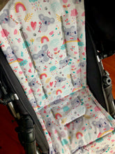 Load image into Gallery viewer, Custom liner made for your model of pram-rainbow koalas