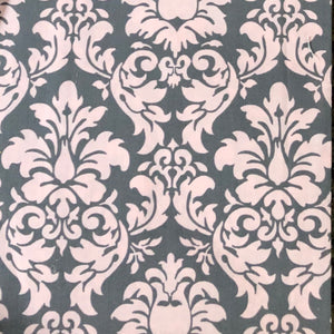 Pink grey damask - Percy and Paige
