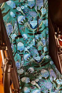 Custom liner made for your model of pram- Large floral blues