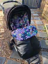Load image into Gallery viewer, Custom liner- Funky Flowers - Percy and Paige tiny traveller footmuff pram blanket best footmuffs universal footmuff australian made footmuffs warm and practical