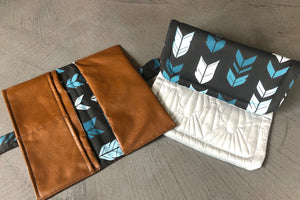 Custom Made Nappy Wallet and Change Mat Set - Percy and Paige