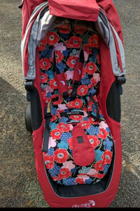 City mini/GT single Anti slip Pram Liner- owls - Percy and Paige tiny traveller footmuff pram blanket best footmuffs universal footmuff australian made footmuffs warm and practical