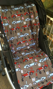 Universal liner- retro cars - Percy and Paige tiny traveller footmuff pram blanket best footmuffs universal footmuff australian made footmuffs warm and practical