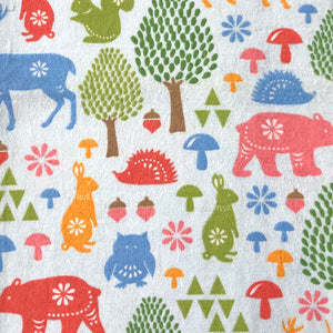 Custom liner- Woodland animals baby blue - Percy and Paige