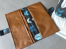 Load image into Gallery viewer, Custom Made Nappy Wallet and Change Mat Set - Percy and Paige
