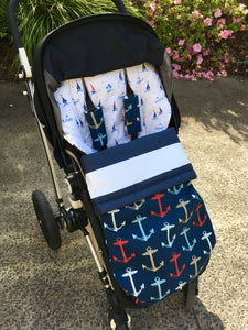 Custom set- bugaboo chameleon (all Gen) - Percy and Paige tiny traveller footmuff pram blanket best footmuffs universal footmuff australian made footmuffs warm and practical