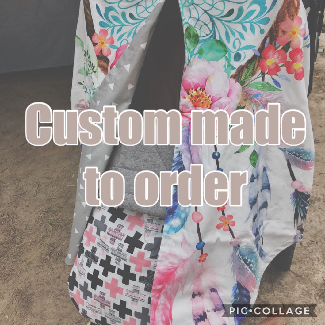 Custom made Universal pram curtain- made in your choice of fabric - Percy and Paige tiny traveller footmuff pram blanket best footmuffs universal footmuff australian made footmuffs warm and practical