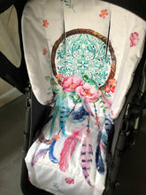 Load image into Gallery viewer, Custom liner made for your model of pram- dream catcher - Percy and Paige tiny traveller footmuff pram blanket best footmuffs universal footmuff australian made footmuffs warm and practical