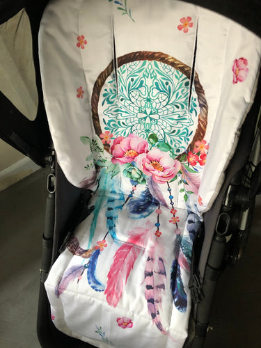 Custom liner made for your model of pram- dream catcher - Percy and Paige tiny traveller footmuff pram blanket best footmuffs universal footmuff australian made footmuffs warm and practical