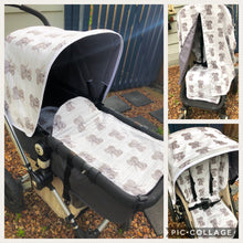 Load image into Gallery viewer, Custom styling package #1 - Percy and Paige tiny traveller footmuff pram blanket best footmuffs universal footmuff australian made footmuffs warm and practical