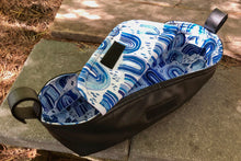 Load image into Gallery viewer, Custom pram caddy- made to order in your choice of fabric - Percy and Paige tiny traveller footmuff pram blanket best footmuffs universal footmuff australian made footmuffs warm and practical