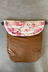 Custom liner and footmuff set- magnolia/brown - Percy and Paige tiny traveller footmuff pram blanket best footmuffs universal footmuff australian made footmuffs warm and practical