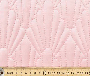 Pink quilted velvet - Percy and Paige