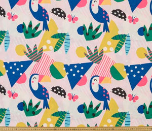 Toucans - Percy and Paige tiny traveller footmuff pram blanket best footmuffs universal footmuff australian made footmuffs warm and practical