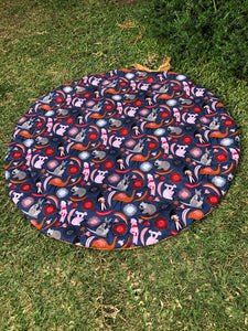 Tiny Traveller Playmat- Australiana - Percy and Paige tiny traveller footmuff pram blanket best footmuffs universal footmuff australian made footmuffs warm and practical