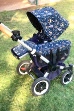 Load image into Gallery viewer, Bugaboo donkey-custom extendable hood - Percy and Paige tiny traveller footmuff pram blanket best footmuffs universal footmuff australian made footmuffs warm and practical