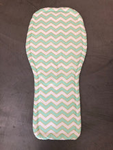 Load image into Gallery viewer, Universal liner- mint and gold chevron