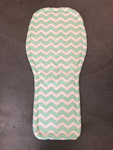 Universal liner- mint and gold chevron