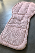 Load image into Gallery viewer, bugaboo Donkey anti slip liner- pink quilted velvet - Percy and Paige tiny traveller footmuff pram blanket best footmuffs universal footmuff australian made footmuffs warm and practical