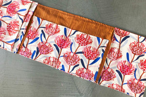 Traveller Nappy Wallet for cloth Nappies- gravillea - Percy and Paige