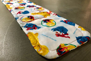 City mini/GT single Anti slip Pram Liner- Sesame Street - Percy and Paige tiny traveller footmuff pram blanket best footmuffs universal footmuff australian made footmuffs warm and practical