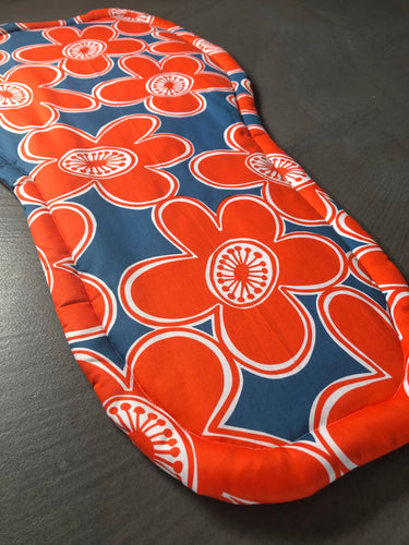 Universal liner- large orange and teal flowers